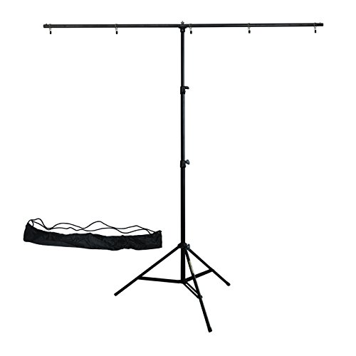 Linco Lincostore Zenith Portable T-shape Background Backdrop Stand Kit 1.5x2m - 1.5m Wide (Fixed) and 2m High (Adjustable From 0.75m to 2m High)- Lightweight Only 4 Lbs Easy to Carry and Storage