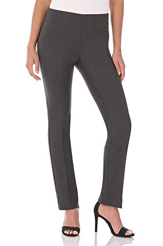 Rekucci Women's Ease in to Comfort Straight Leg Pant with Tummy Control (2,Spruce) - Wear Wide Leg Pants