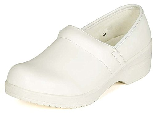 Refresh Footwear Women's Slip-On Professional Work Comfort Clog White