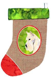 11 x 18 Carolines Treasures SS2038-CS Scottish Terrier Christmas Stocking Multicolor