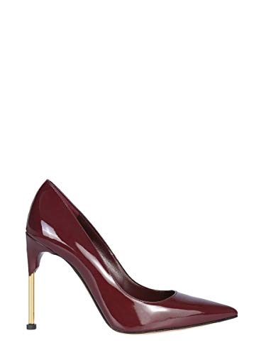 (Alexander McQueen Women's 543655Whtk16186 Burgundy Leather Pumps)