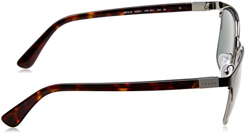 61ss gunmetal Prada pr black Green Negro Sonnenbrille grey nwqpqCxa7
