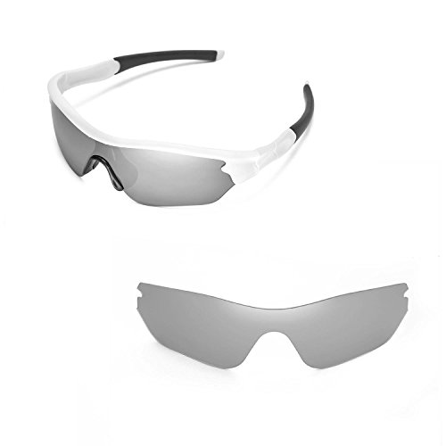 Walleva Replacement Lenses for Oakley Radar Edge- Multiple Options (Titanium Mirror Coated - Polarized) - Edge Replacement Lenses