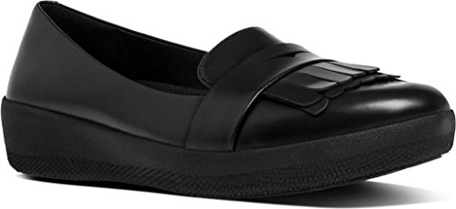 FitFlop Mujer Negro Fringy SneakerLoafer Zapatos All Black