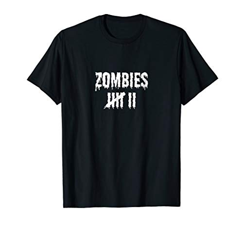Funny Zombie Shirt Kill Countdown T-Shirt Scary Monster Tee