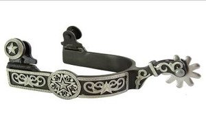 AJ Tack Wholesale Western Show Spurs Floral and Star Engraving Ladies ()