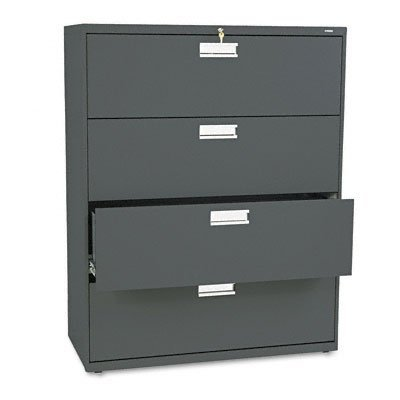 HON 694LS 600 Series 42-Inch by 19-1/4-Inch 4-Drawer Lateral File, Charcoal