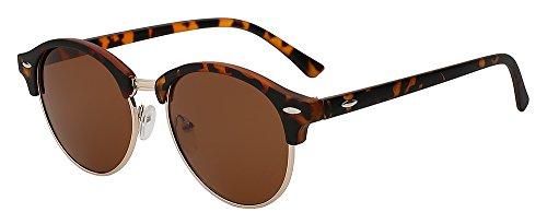redondas diseño gafas w marco sol polarizadas metal trasero lens de con mirror hombres Black Gafas mujeres remache Blue sol y TIANLIANG04 unisex G15 clásico de para de xPOqtppwB