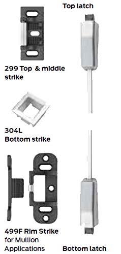 Von Duprin 9857EOF284 9857EO-F US28 4 Surface 3 Point Latch Device