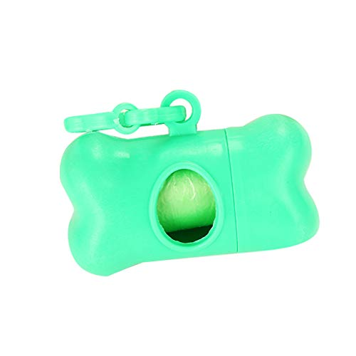 PlacerMe Pet Dog Waste Poop Bag Dispenser Holder Case Bags Attachable To Leash Green Scale