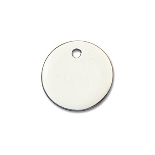 925 Sterling Silver 5pcs Round Stamp Blank for Charm Bracelet Smooth Stamping Blank (Silver Plated)