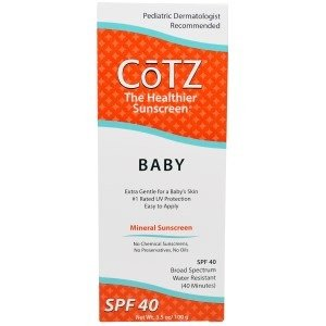 Cotz Baby Mineral Sunscreen SPF 40, 3.5oz. Per Box (4 Pack) by CoTZ