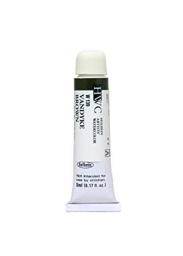 ホルベイン 透明水彩絵具 バンダイキブラウン W139 5ml(2号)