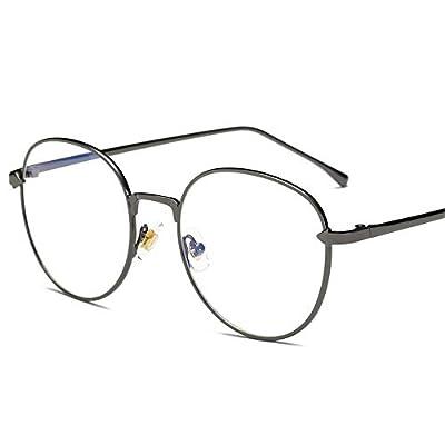 FeliciaJuan Adult Glasses Circular Glass Frame Female The Blue Glasses General Computer Goggles Men and Women