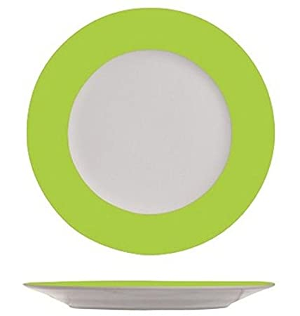 Bil u2013 White on Lime Green Dinner Plate  sc 1 st  Amazon UK & Bil - White on Lime Green Dinner Plate: Amazon.co.uk: Kitchen u0026 Home