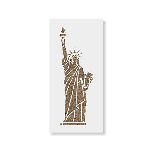 Statue of Liberty Stencil Template for Walls and Crafts - Reusable Stencils for Painting in Small & Large Sizes ()