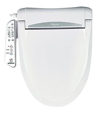 LivingStar LS-5300 Elongated: High comfort via Multi-adjustable: water, seat temp, energy savings & Micro-air infused warm water with Turbo, Pulsating, Kid's washing modes