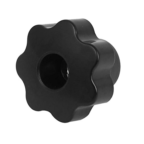 UPC 712662027058, Plastic Head Screw On Clamping Knob Grip M6 Female Thread Black