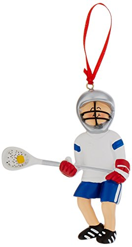 Male Lacrosse Resin - Ornament Central OC-220 Male Lacrosse Figurine