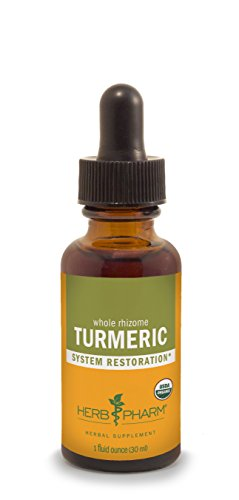Herb Pharm Certified Organic Turmeric Root Extract for Musculoskeletal System Support - 1 Ounce