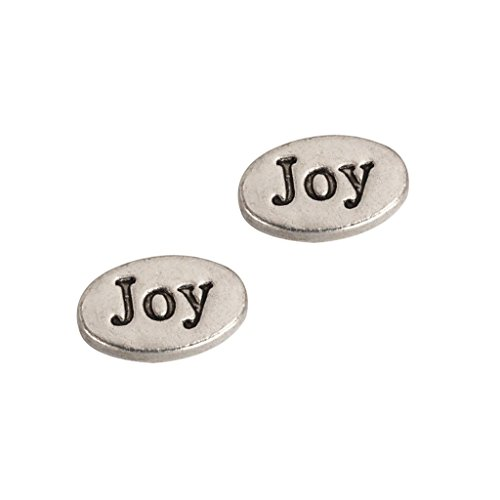 30 x Joy Charms Beads 13x7mm Antique Silver Tone for Charms Bracelet Necklace Jewelry Findings #mcz1189 ()