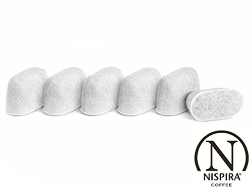 Nispira Premium Water Filter Replacement with Ion Unpleasantness Resin Compatible Breville Coffee Machine BWF100 - 6 Filters