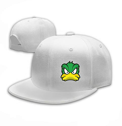 - Classic Cotton Dad Hat Adjustable Plain Cap Custom Denim Baseball Cap for Adult Angry Duck Mascot Clipart Picture Cartoon Logo chara White