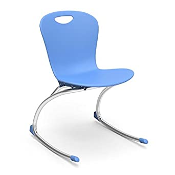 virco zuma rocker sky blue soft plastic shell 18u0026quot seat height