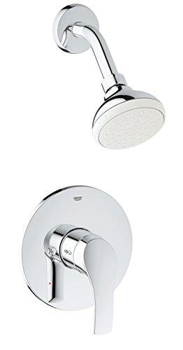 Grohe 3501420A Eurosmart Bathtub/Shower Combo Faucet, Chrome