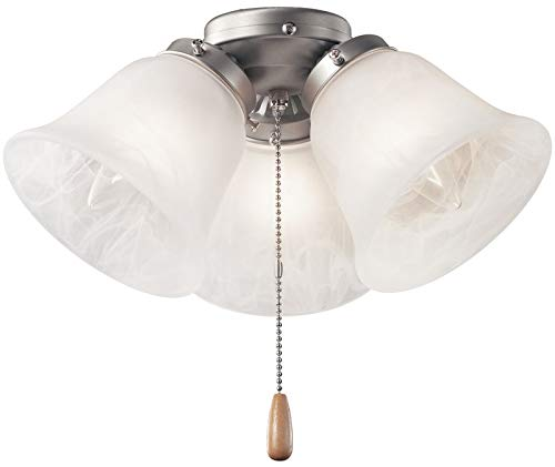 Kichler 338505NI Accessory 3-Light Turtle Light Kit, Brushed - Fan Ceiling Brushed Kichler
