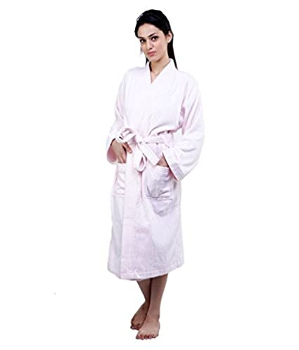 fdca3a39bf Buy Trident Premium Unisex Small Pink Bathrobe - Pink Online at Low Prices  in India - Amazon.in