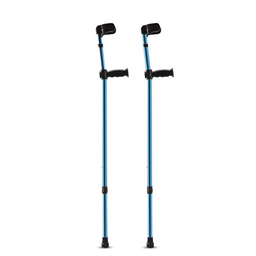 XRX Folding Aluminum Walking Forearm Crutches for Adults and Youth,Adjustable Lightweight Arm Cuff Crutch with Ergonomic Grip,Comfortable on Wrist,Non Skid Replaceable Rubber Tips (1 Pair)