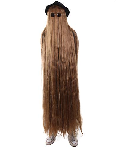 66 Inch Long Creature Wig, Brown (One Size, HM-1133)