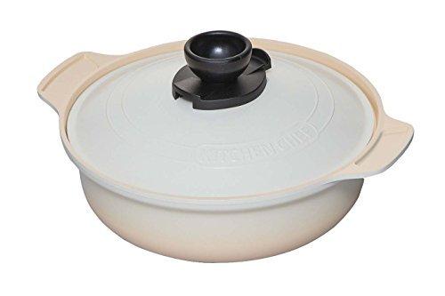 Iris Oyama Pot no water adding pot Tamba style 26 cm white MKS-P26 DO by Iris Oyama (IRISOHYAMA)