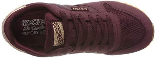 Donna clasix Og Da Scarpe 85 Rosso Skechers Ginnastica burgundy xB4wz7