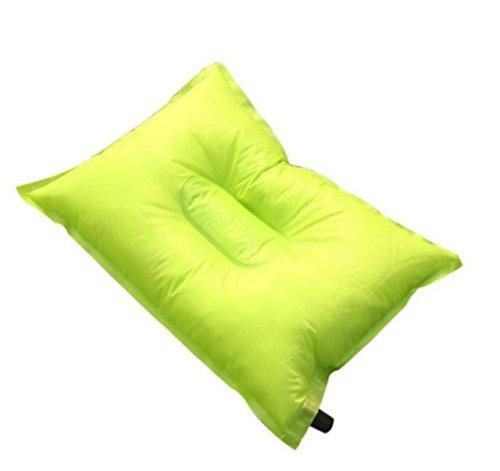 jiayit Portable Automatische Outdoor Camping Aufblasbare Kissen Reise Komfortabe (Green)