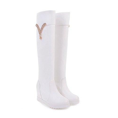 BalaMasa  Abl09693, Sandales Plateforme femme - Blanc - blanc,