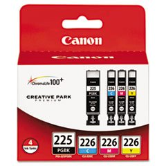 (6 Pack Value Bundle) CNM4530B008AA 4530B008AA (PGI-225, CLI-226) Ink Tanks, 19 mL, 9 mL, CMYK, 4/Pk