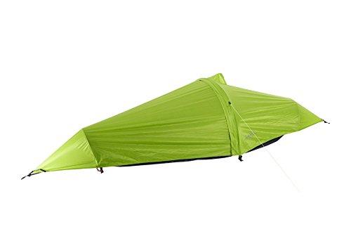 flying tent: Unique All-in-ONE Hammock Tent, Bivy Tent, Hammock and Rain Poncho + Fine Mesh Mosquito Net - Grass Hopper Green