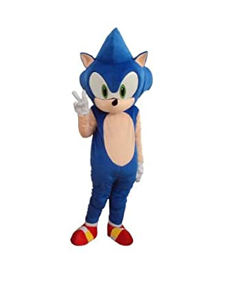 Professional Hedgehog Sonic Mascot Costume Adult Halloween Costume Fancy Dress Outfit