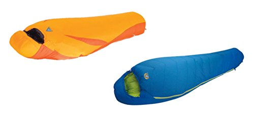 High Peak USA Alpinizmo Summit 0F & Latitude 20F Sleeping Bags Combo Set, Blue/Orange, One Size