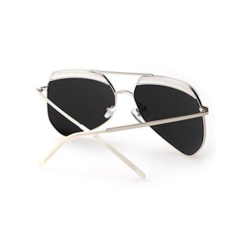 inspirado One Espejo de polarizado Diseñador de Blue de plástico moda metal tamaño de size Color Gafas Ms Green GAOLIXIA alta Marcos sol wHIt8xqw