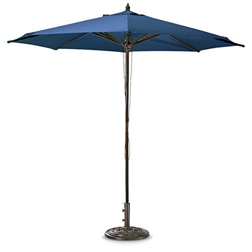 Guide Gear 9' Market Patio Umbrella with Pulley System Hardwood Pole, Hunter Green