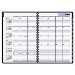 AT-A-GLANCE G470H-00 Premiere professional monthly planner for 2009, hardcover, 7-7/8 x 11-7/8, black