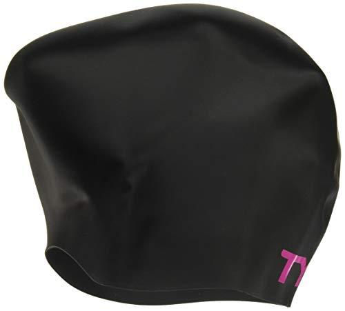 TYR Long Hair Cap, Black/Pink ()