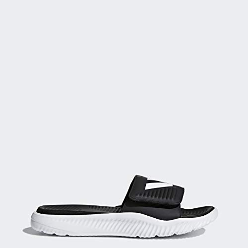 adidas Men's Alphabounce Slide Sandals, White/Core Black/White, (12 M US)