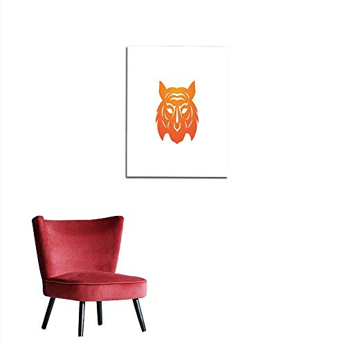 - longbuyer Photographic Wallpaper Tiger Logo Template Vector icon Design Mural 16