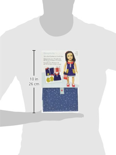 Simplicity Doll Clothes to Cut and Sew x 18in 1 Sheet