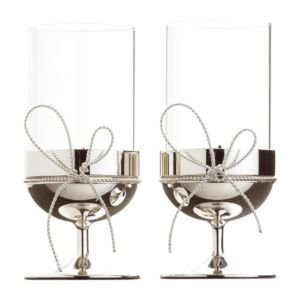 f29ac892516f Vera Wang Love Knots Tealight Holder Pair: Amazon.co.uk: Kitchen & Home