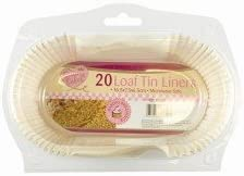 Pack of 50 // Case of 12 Packs Essential Housewares Siliconised Cake Tin Liners